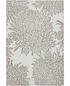 "Chrysanthemum MSR4125L Gray 6'7"" x 9'6"" Area Rug"