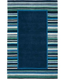 Striped Border MSR4715C Bluestone 8' x 10' Area Rug