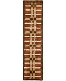 "Color Weave Plaid MSR3613D Terracotta 2'3"" x 10' Runner Area Rug"