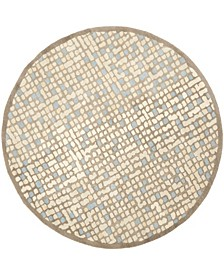 Mosaic MSR3623C Beige 6' x 6' Round Area Rug