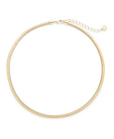 14K Gold Plated Izzy Herringbone Choker Necklace