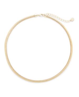 14K Gold Plated Izzy Herringbone Choker Necklace