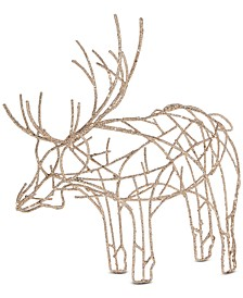 Gilded Age Glittered Wire Moose Decoration, Created for Macy's