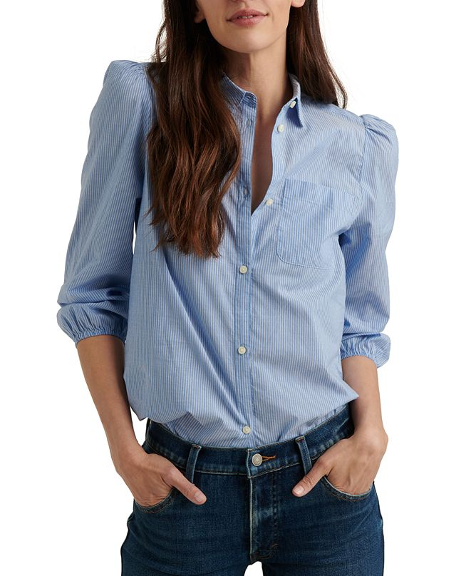 Lucky Brand The Poet Printed Cotton Shirt