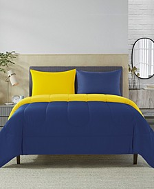 Home Solid Reversible Comforter Set