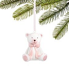 Baby's First Christmas 2020, Pink Ceramic Bear Ornament, Created for Macy's