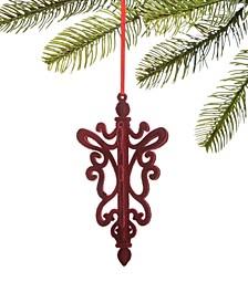 Burgundy & Blush Flocked Chandelier Ornament, Created for Macy's