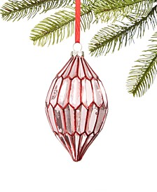 Burgundy & Blush Glass Drop Ornament, Created for Macy's