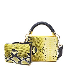 Snakeskin Crossbody Handbag Set