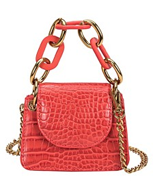 Bella Micro Vegan Leather Croco Crossbody