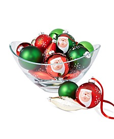 Christmas Cheer Glass Mixed Ornaments, Set of 22, Created for Macy's