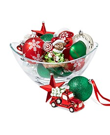 Christmas Cheer Mixed Shatterproof Ornaments, Set of 25, Created for Macy's
