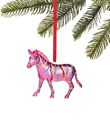 Merry & Brightest Pink Zebra Ornament, Created for Macy's