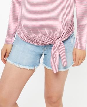 Joe's Jeans Maternity Frayed Denim Shorts
