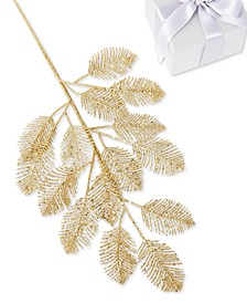 Safari Gold Glitter Leaf Pick, Created for Macy's