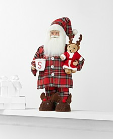 Standing Pajama Santa with Bear and Mug, Created for Macy's