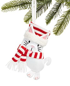 Pets, Felt Cat Stocking Ornament, Created For Macy's
