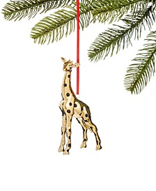 Safari Molded Gold-Tone Giraffe Ornament, Created for Macy's