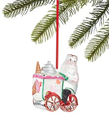Sweet Tooth Santa with Ice Cream Cart Ornament, Created for Macy's