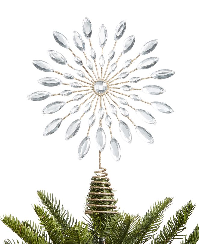 Holiday Lane Shine Bright Star Tree Topper, Created for Macy's