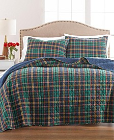 Collegiate Plaid Flannel Full/Queen Quilt, Created for Macy's