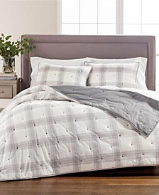 Tufted Plaid Full/Queen Quilt, Created for Macy's