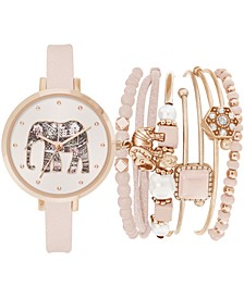 Women's Blush Strap Watch 34mm Gift Set