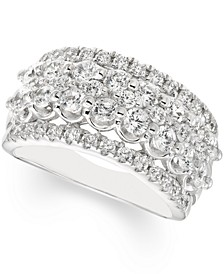 Diamond Multi-Row Band (2 ct. t.w.) in 14k White Gold
