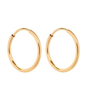 Men's 14K Gold Tone Filled Half Inch Hoop Earrings