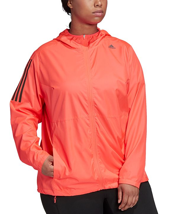 adidas Plus Size Own The Run Hooded Jacket
