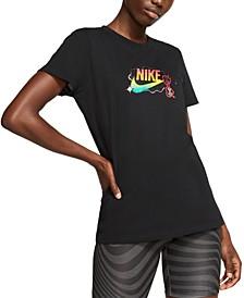 Women's Sportswear Cotton Logo-Graphic T-Shirt