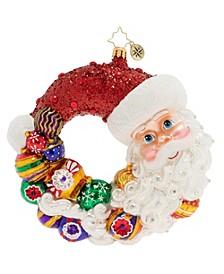 Santa Comes Full Circle Wreath