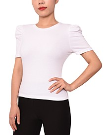 Juniors' Puff-Sleeve T-Shirt