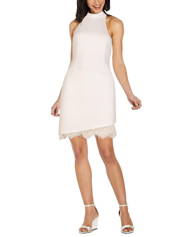 Adrianna Papell Halter Sheath Dress