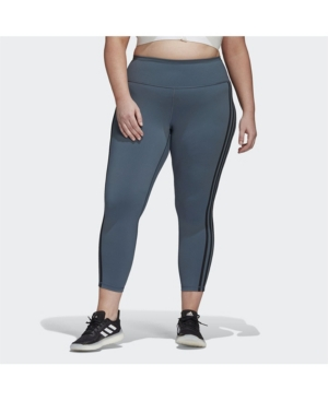 Adidas Originals WOMEN'S BELIEVE THIS 3-STRIPES 7/8 TIGHTS PLUS SIZE