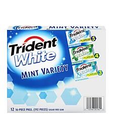 White Mint Gum Variety, 12 Pack