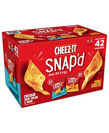 Snap'D Cheesy Baked Snack Variety Pack, 0.75 oz, 42 Count, 2 Pack