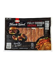 Hormel Black Label Fully Cooked Bacon, 9.5 oz, 72 Count