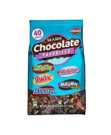 Chocolate Minis Size Candy Variety Mix 40-Ounce Bag, Pack of 2