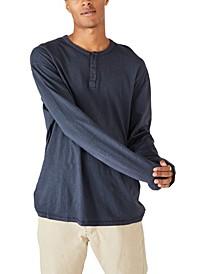 Men's Henley Long Sleeve T-Shirt