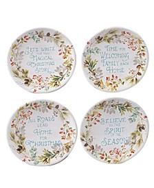 Christmas Story 4 Piece Canape Plate