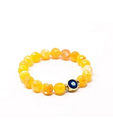 Agate with Evil Eye Bracelet Give Back Bracelet