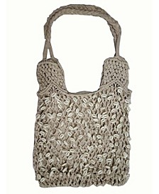 INC Macrame Shell Tote, Created for Macy's