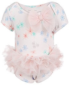 Baby Girls Floral Tulle Bodysuit, Created for Macy's