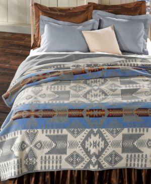 Pendleton Silver Bark Heritage Wool Queen Blanket Bedding 739645