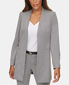 Collarless Suit Jacket