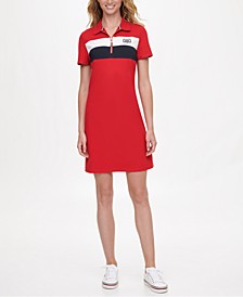 Colorblocked Polo Dress, Created for Macy's