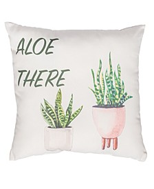 """Aloe There 20"""" x 20"""" Outdoor Decorative Pillow"""