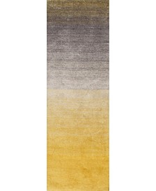 "Ombre Shag HJOS01A Yellow 2'6"" x 6' Runner Rug"