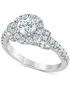 Diamond (1-3/8 ct. t.w.) Halo Engagement Ring in 14k White Gold